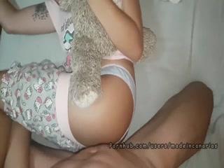 Девушка мастурбировала пизду и получила сперму